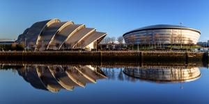 Armadillo and Hydro, Pacific Quay, Glasgow, Scotland, United Kingdom, Europe by Karen Deakin