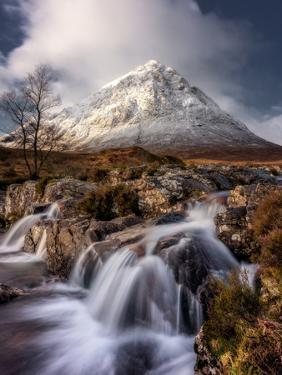 Buachaille Etive Mor and the River Coupall, Glen Etive, Western Highlands, Scotland by Karen Deakin