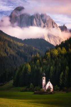 Chiesetta (Church) di San Giovanni, Dolomites, Italy by Karen Deakin