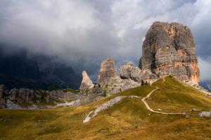 Cinque Torri, Belluno Province, Dolomites, Italy by Karen Deakin