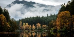 Glencoe Lochan in autumn, Highlands, Scotland, United Kingdom, Europe by Karen Deakin