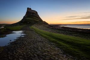 Lindisfarne Castle at dawn, Northumberland, England, United Kingdom, Europe by Karen Deakin