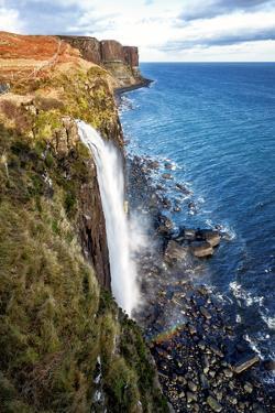 Mealt Falls and Kilt Rock, Isle of Skye, Inner Hebrides, Scotland, United Kingdom, Europe by Karen Deakin