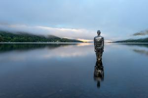 Mirror Man of Loch Earn, Highlands, Scotland, United Kingdom, Europe by Karen Deakin