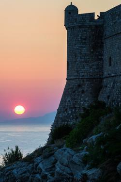 Sunset at the Walls of Old Town, Dubrovnik, UNESCO World Heritage Site, Croatia, Europe by Karen Deakin