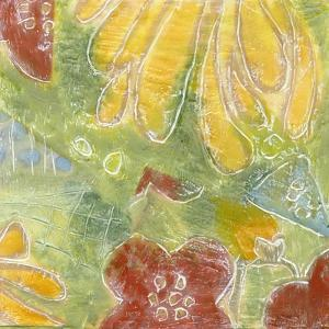 Encaustic Whimsy II by Karen Deans