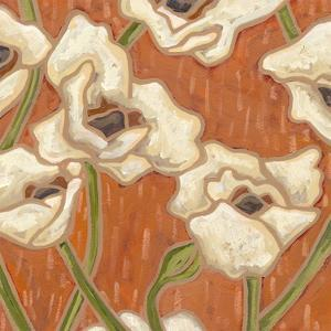 Persimmon Floral I by Karen Deans