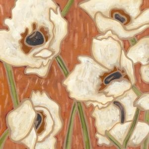 Persimmon Floral III by Karen Deans