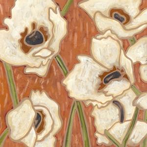 Persimmon Floral III by Karen Deans