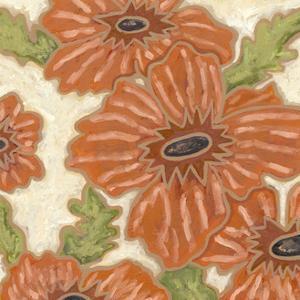 Persimmon Floral IV by Karen Deans