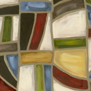 Stained Glass Abstraction I by Karen Deans