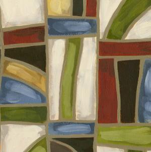 Stained Glass Abstraction II by Karen Deans