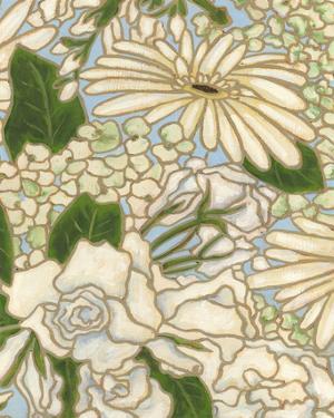 White Flower Spray II by Karen Deans