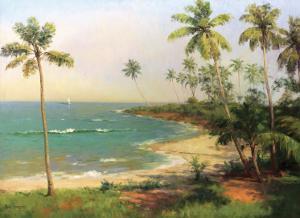 Tropical Coastline by Karen Dupré