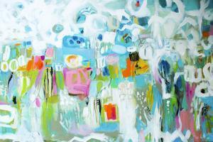 Abstract Blue by Karen  Fields