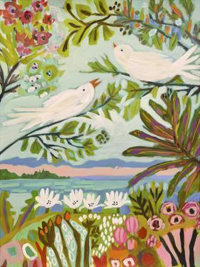 Birds in the Garden I by Karen  Fields
