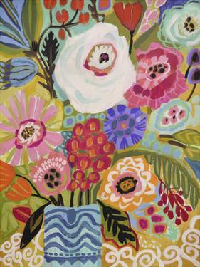 Fresh Flowers in Vase II by Karen Fields