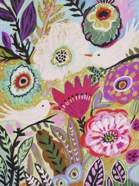 Garden Birds I by Karen Fields