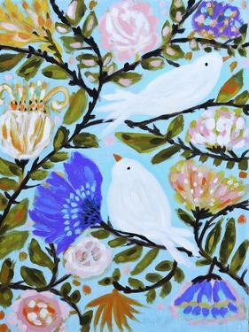 Sweet Love Birds II by Karen  Fields