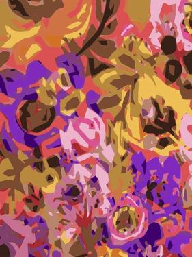 Warm Abstract Floral I by Karen  Fields