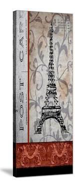 Paris Postcard Panel by Karen J^ Williams