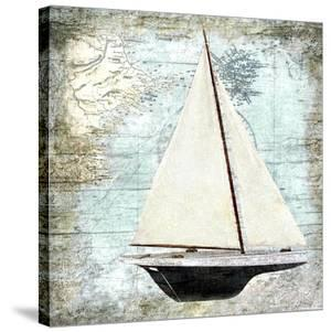 Sailboat Map I by Karen J. Williams
