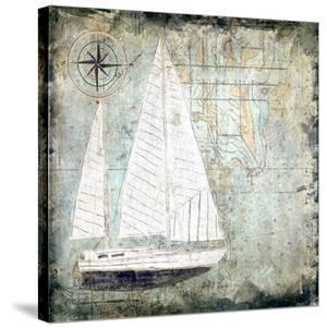 Sailboat Map II by Karen J. Williams