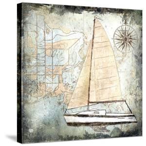Sailboat Map IV by Karen J. Williams