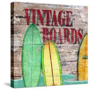 Vintage Surf Boards by Karen J^ Williams