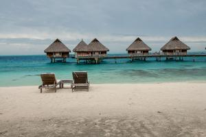 Lounge Chairs at a Beachfront Resort on Bora Bora, Tahiti by Karen Kasmauski