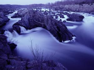 Potomac River Rapids and Large Rocks by Karen Kasmauski