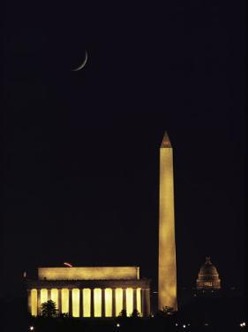 View of the Lincoln and Washington Monuments, and of the U.S. Capitol by Karen Kasmauski