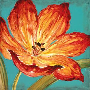Flame Tulip I by Karen Leibrick