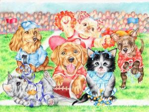 Fluffie Football by Karen Middleton