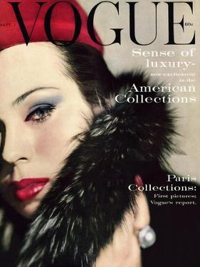 Vogue Cover - September 1959 - Fur Collar by Karen Radkai
