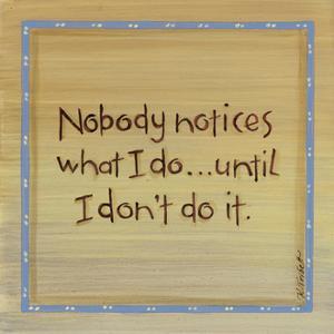 Nobody Notices by Karen Tribett