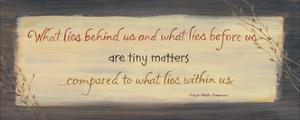 What Lies Behind Us by Karen Tribett