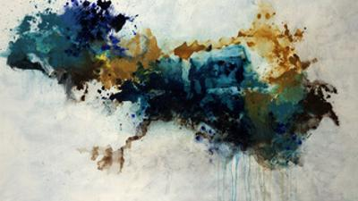 Teal Splat by Kari Taylor