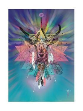 Cosmic Deer by Karin Roberts