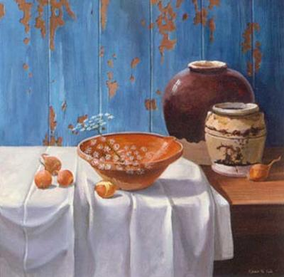 Aged Pots with Onions by Karin Valk