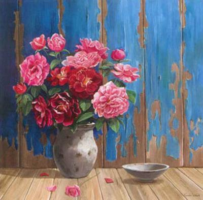 Aged Wood and Roses by Karin Valk