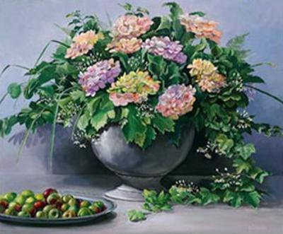 Flowers and Apples I by Karin Valk