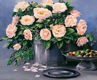 Flowers and Apples II by Karin Valk