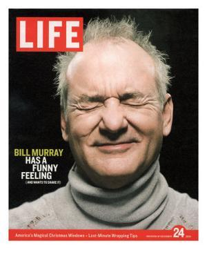 Actor Bill Murray with Eyes Closed, December 24, 2004 by Karina Taira
