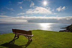 An Empty Bench Overlooks the North Atlantic by Karine Aigner