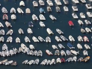 Moored Boats on Isola Di Nisida from Parco Virgiliano by Karl Blackwell