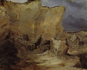 Chalk Rocks of Ruegen by Karl Blechen
