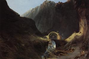 Construction of the Devils Bridge by Karl Blechen