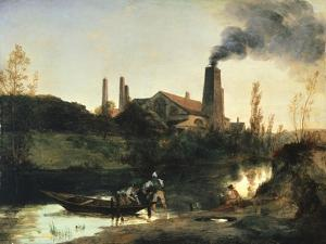 Eberswald Mill, Circa 1830 by Karl Blechen