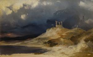 Gallows Hill under a thunderstorm (1835) by Karl Blechen